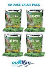 4 x WALEX BIO-PAK EXPRESS GREEN DROP IN 15 SACHET CARAVAN TOILET CHEMICAL 039899