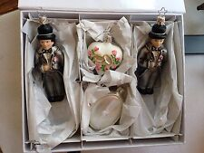 Inge Glas of Germany Wedding Day Gentlemen 4 Piece Glass Ornament Box Set