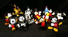 Disney Mickey Mouse Christmas Ornament 90th Anniversary set 10 Steamboat Willy