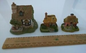 1993 Lilliput Lane Titwillow Cottage & 2 small Chapel Hill cottages (no box)