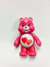 "Love A Lot Pink Heart Care Bear 3"" Loose PVC Figure Cake Topper Action Figurine"