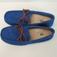 UGG Chester Capra Loafer Slippers Royal Blue Mens 1009521 Wool Leather
