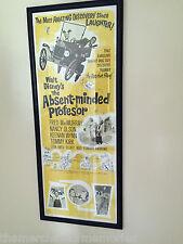 ABSENT MINDED PROFESSOR '61 Vintage Poster & Flubber + Signed FRED McMurray-RARE