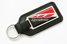 1999-2000 XJR 1300 Red & White Leather Keyring for 01 XJR1300 Spares Keys