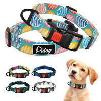Tribal Boho Nylon Dog Collars for Small Medium Large Dogs Lockable Adjustable