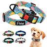 Tribal Boho Nylon Dog Collars for Small Medium Large Dogs Lockable Adjustable