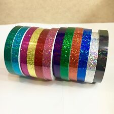 ANY 6 Color Glittering Tape 1/2 Inch x 25feet, Holographic Sequins Sparkle