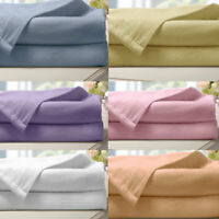 100% Brushed Cotton Flannelette Fitted Sheet Set Extra Deep Warm Soft Bed Sheets
