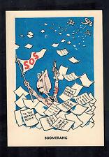 Mint WW2 England Anti Nazi Propaganda Postcard Boomernag RAF Bombing Germany