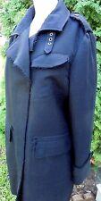 Banana Republic Heritage Womens XL Black Knee Length Wool Coat