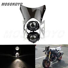 Universal Dirtbike H3 Headlight With Windscreen For Kawasaki KLX450 KLX250