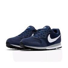 Nike MD Runner 2 para Hombre Zapatos De Medianoche Azul Marino/Blanco-gris Lobo entrenadores-Size UK 9