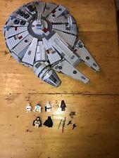 LEGO STAR WARS MILLENIUM FALCON 7965 COMPLETE W Subbed MINIFIGURES Read