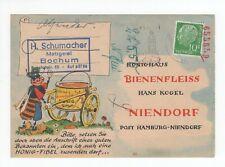 GERMANY/BUNDES: Advertising postcard Beekepinng 1958.