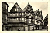 Limburg Lahn AK ~1950/60 Partie am Kornmarkt Fachwerkhaus Gasthaus Goldener Löwe
