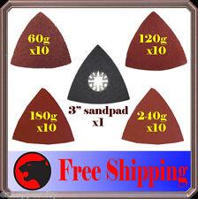 41 Triangular Sanding Kit Oscillating MultiTool Pad Makita Milwaukee King Canada