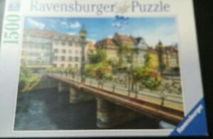 Summery Strasbourg 1500 Piece Jigsaw Puzzle. Ravensburger. Cities. Scenery,