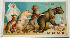 RARE CHROMO CHOCOLAT SUCHARD VELMA MILKA Série n° 134 ANIMAUX de CIRQUE n°1 1904