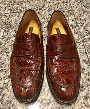 BLOOMINGDALE'S Brown Crocodile Men's Loafers Shoes