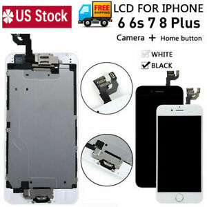 For iPhone 6 6s 7 8 Plus LCD Screen Digitizer Full Assembly Replacement W/Button