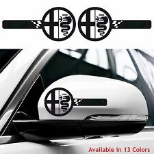 ALFA ROMEO Custom Wing Mirror Body Decals Stickers MiTo Giulietta Giulia 147 156