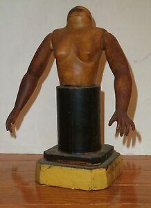 "9""  Female Nude Constructed Wood Surrealistic Sculpture -Adolf Konrad"