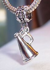 Cheer Megaphone Cheerleader Cheerleading Dangle Charm for European Bead Bracelet