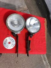 PAIR  OF VINTAGE LUCAS  SLR700S   FOG  &  SPOT LAMPS  WITH  BRACKETS.