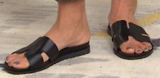 STEVEN by Steve Madden Natural Comfort Dana Leather Slide Sandal, Size 10, Black