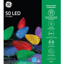 "NEW - GE Color ""Energy Smart"" 50 LED C9 Holiday Christmas Light String"