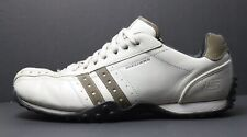Skechers Men's US 12 W Leather Lace Up Shoes White Brown Round Toe EUR 46