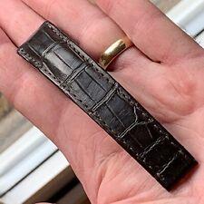 Genuine Omega 19/16mm Brown Alligator Half Strap Reference 98000275