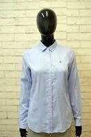 TOMMY HILFIGER FITTED Donna Camicia Camicetta Taglia XS Maglia T-Shirt Cotone