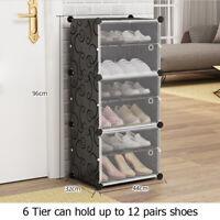 6 Tier Door Cube DIY Shoe Cabinet Rack Storage Portable Stackable Organiser
