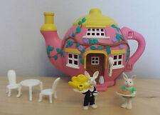 Teeny pequeñísima familias Vivid Imaginations Hippity Hop Cafe Conjunto de Juego Completo 1995