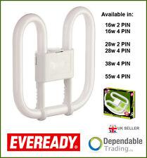 Eveready 2d energía ahorro 16w 28w 38w 55w-2 & 4 PIN - DD Mariposa Lámpara
