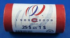 2009 CANADA Montreal Canadiens loonie paper roll