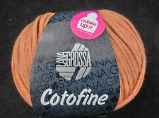 (9,90 €/100g): 50 g  LG COTOFINE, wattiertes Bändchengarn,  Fb. 031# 3765
