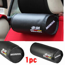 One Auto Car carbon fiber Seat Headrest Neck Rest Head Pad for fit Racing MUGEN