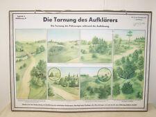Schautafel Lehrtafel der NVA DIE TARNUNG DES AUFKLÄRERS 2 b auf Pappe aufgezogen