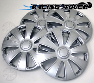 "#713 Replacement 14"" Inches Metallic Silver Hubcaps 4pcs Set Hub Cap Wheel Cover"