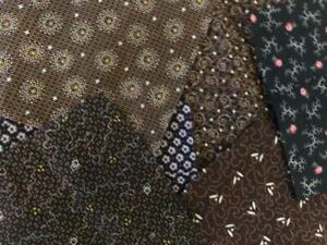 ~Back In Time Textiles~Antique 1880-90 mixed calico fabric 9 pcs crisp~