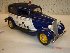Franklin Mint 764/2500 1933 Ford Tudor Police Car w/Trailer MIB