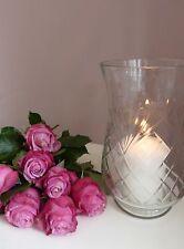 Vase Molly Marais Hurricane Gr.XL Glasvase Schliff Windlicht Massiev H22cm Glas