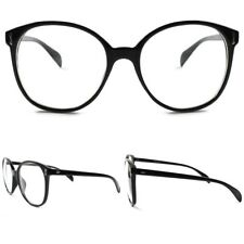 Classic Vintage Large Oversized Nerd Geeky Sexy Clear Lens Eye Glasses Black