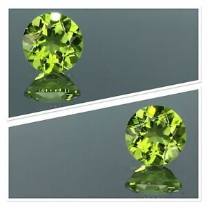 Peridot Gemstone Natural Untreated 2.25 Carat Vivid Green Pakistan Round Cut