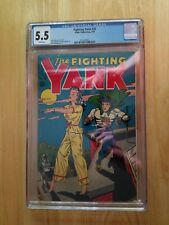 Fighting Yank #25 (1948) CGC 5.5 White Pages - Alex Schomberg Classic Cover