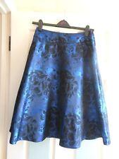 NWT black & purple floral roses luxury full skirt UK10 EU38 Marks & Spencer