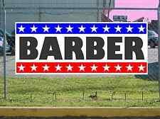 Stars & Stripes BARBER Banner Sign NEW 2X5