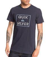 Quiksilver Mens T-Shirt Navy Blue Size XL Boxed Intent Logo Crewneck Tee 472